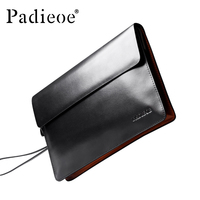 Padieoe 2016 New Coming Designer Handbags Men Women Luxury Brand Clutch Bag Genuine Leather Purse Bag Fashion Men's Day Clutches