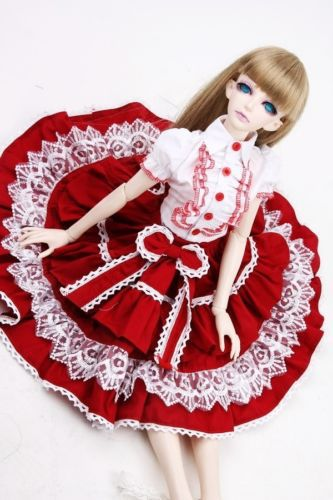 [wamami] 299# Red Dress/Clothes/Suit 1/3 SD DZ BJD Dollfie 699 pink chinese classical long dress suit for 1 3 sd bjd dollfie