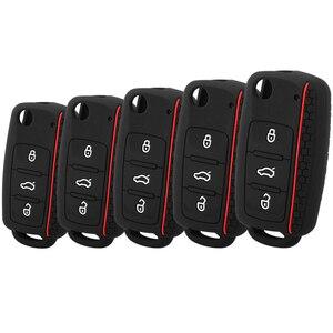 Модный силиконовый чехол для автомобильного ключа для Volkswagen VW Passat Golf Jetta Bora Polo Sagitar Tiguan, чехол для автомобильного ключа