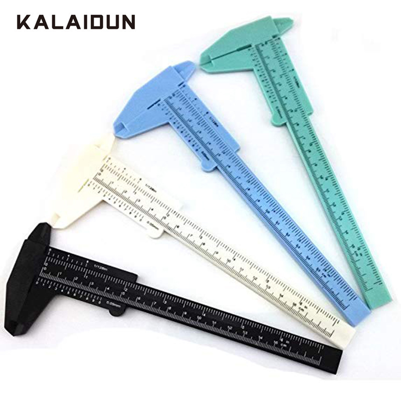 KALAIDUN Caliper Double Scale Plastic Vernier Caliper Ruler Measuring Tool 150 mm Non-digital Display Students Ruler Instrument