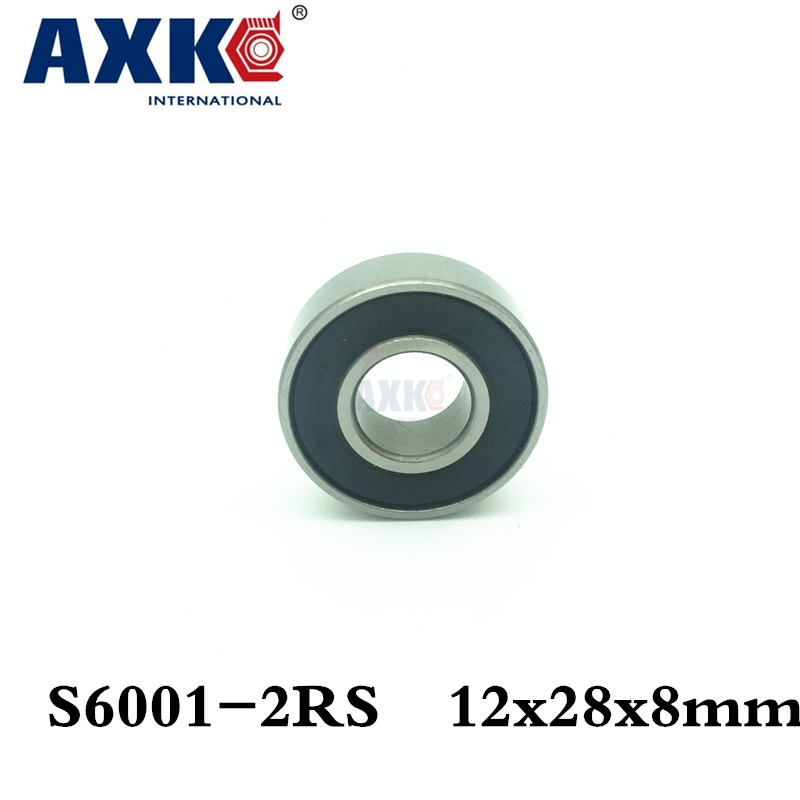 Free Shipping 1pcs 6001rs S6001-2rs 12*28*8 12x28x8mm Stainless Steel Hybrid Ceramic Ball Bearing Si3n4 Bike Hub Part S6001 2rs 15267 2rs 15 26 7mm 15267rs si3n4 hybrid ceramic wheel hub bearing