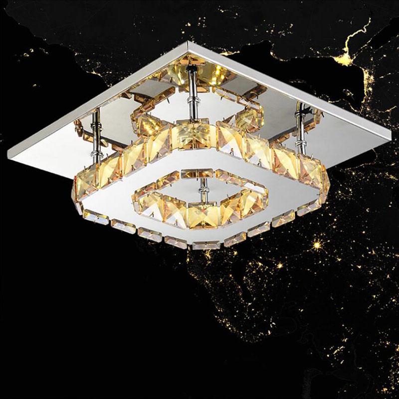 Platz LED Kristall Kronleuchter Licht Fr Gang Veranda Flur Treppe Wth Led Lampe 12