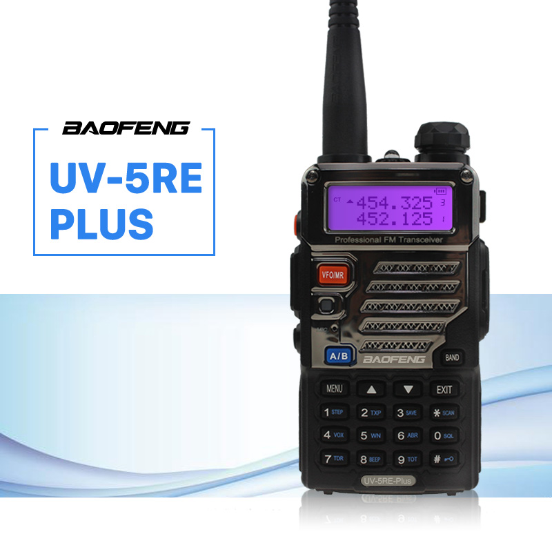 BaoFeng UV-5RE פלוס מתכת שחור Walkie Talkie שחור Ham - ווקי טוקי