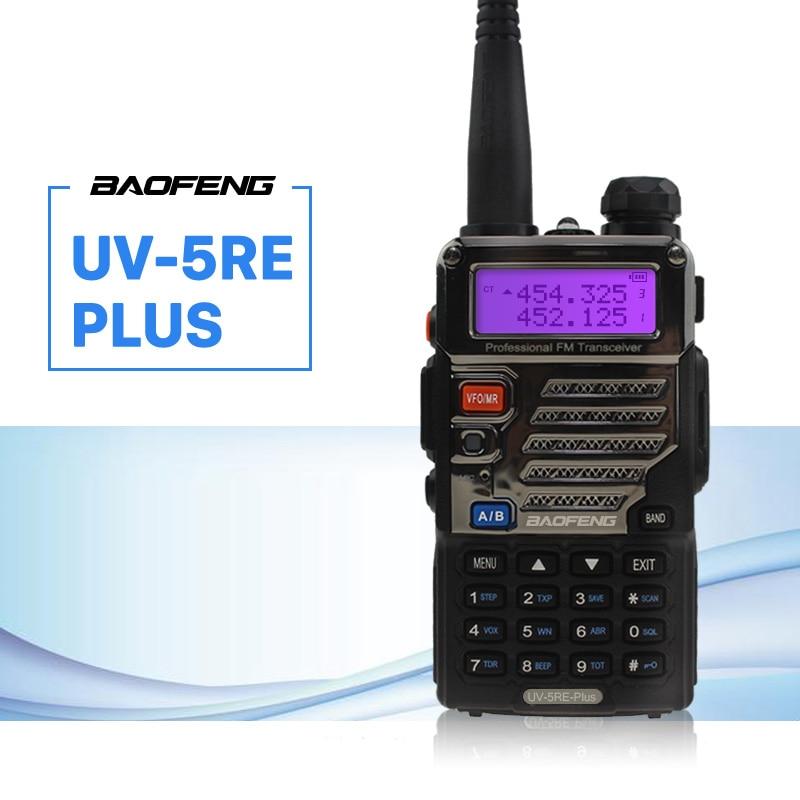 BaoFeng UV-5RE Plus Walkie Talkie CB VHF UHF Portable Ham Amateur Two Way Radio 5W Dual Band For Hunting Trucker