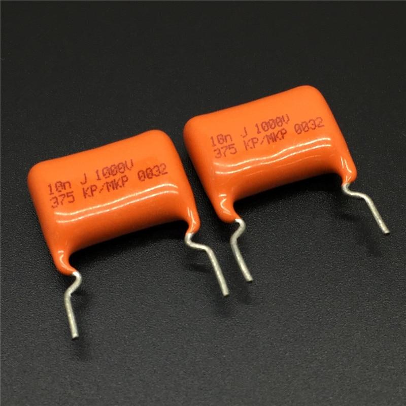 10Pcs/50Pcs CBB Capacitor MKP 103 1000V 103J 10nF 0.01uF P15 Metallized Polypropylene Film Capacitor