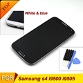 S4 lcd with frame i9500 i9505 i337 touch screen replacment with glue top quality lcd digitizer with frame for samsung S4 display