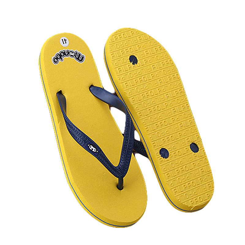 New Summer Men Flip Flops Eva Solid Soft Flat with Sandals playa slides Home Slippers charm Man Casual Beach shoes 2017 Fashion