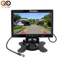 HD 7 LCD TFT Screen Car Parking Monitor Video Camera Monitors With 2 Video RCA Input 7 Inch Parking Assistance Monitor