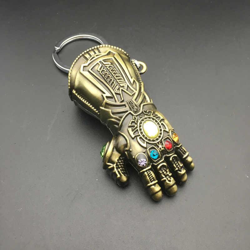 Thanos перчатки Модель Мстители Бесконечность войны брелок Marvel для мужчин и женщин подарок брелок модные ювелирные изделия