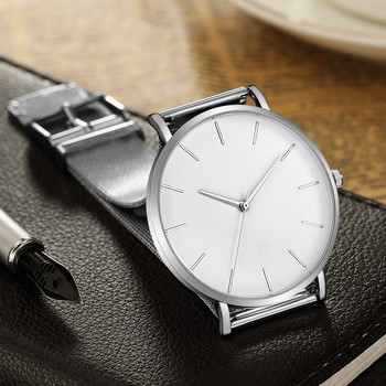Luxury Stainless Steel Ultra-thin Unisex Quartz Wrist  Watches 1