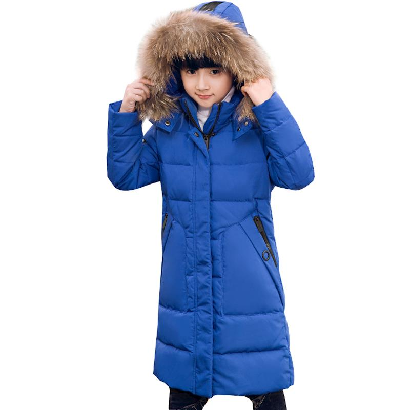 2018 Boy Winter Duck Down Parkas Jacket Kid With Fur Hood Coat Boy Winter Thick School For -30cold Winter Christmas Outerwear children winter jacket long thick duck down coat for boy warm fur collar hooded winter outerwear kid boy winter windproof parkas