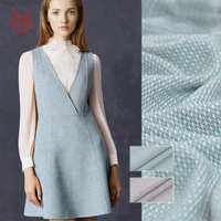 France style elegant blue pink 100% wool fabric apparel for coat dress winter woolen tissu cloth tecidos telas SP5590 FREE SHIP