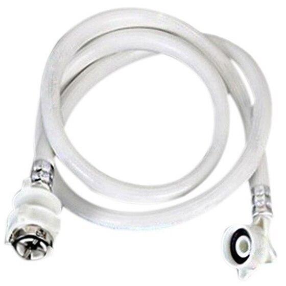 Washing Machine Inlet Hose Tube Pipe 5M Length White b1jx self washing machine pvc inlet pipe white silvery grey 2 8m