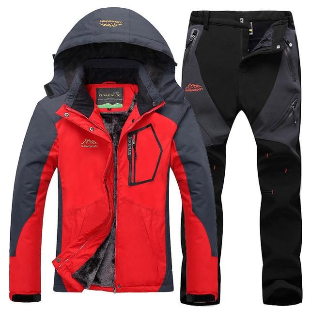 CCIVICFREE Winter Waterproof Jacket Women Outdoor Fleece Hiking Trekking Jackets Pants Snowboard Ski Suit Female Thermal Coat