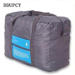 موضة مقاوم للماء حقيبة سفر سعة كبيرة حقيبة المرأة النايلون حقيبة قابلة للطي للجنسين الأمتعة حقائب السفر شحن مجاني