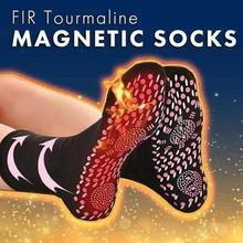 1 пара магнитных саморазогревающихся носков для ступней с трещинами, анти-замерзающие теплые носки с подогревом для ног, носочки с подогром, мужские термоноски