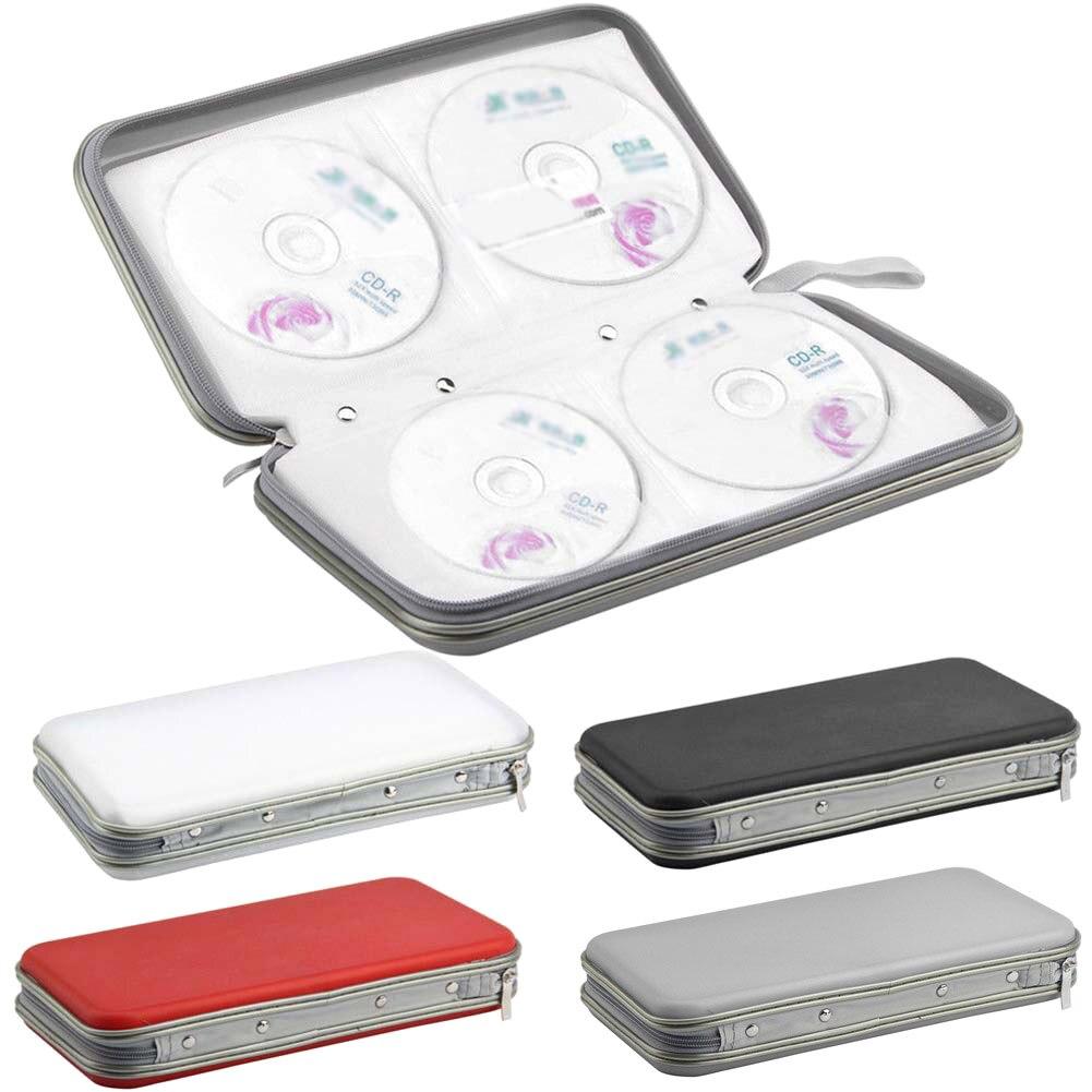 80 Pcs Simple Zipper Wallet Album Bag Disc CD DVD VCD DJ Storage Case Portable Organizer Storage Bags LXY9 MY1218