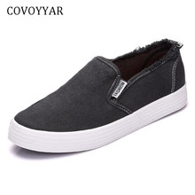 COVOYYAR 2018 Spring Summer Canvas Shoes Women Solid Flat Platform Casual  Shoes Solid Lady Fashion Sneakers Slip On WSN197 77de769b4da7