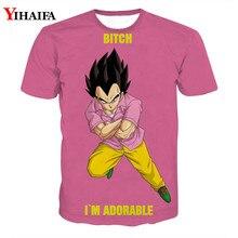 3D T shirt Dragon Ball Z Print Anime Vegeta Casual Tee Shirts Letters Cartoons Tops Men Graphic Tees Funny dragon ball t
