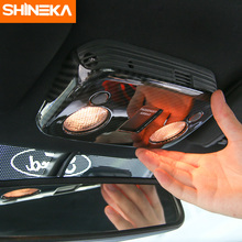 SHINEKA Car Interior Moulding ABS Carbon Fibre Style Cover for Ford Mustang 2015 2016 Car Styling недорого