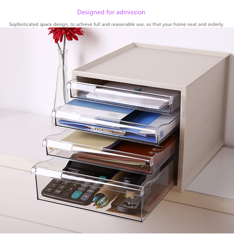 Free Shipping Office Desktop Storage Box Multi Layer Desktop File Storage Cabinet Storage Rack