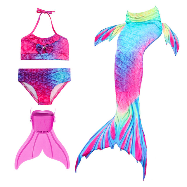 c565ba4d84 Girls Mermaid Tails For Swimming Kids Mermaid Costumes Swimmable  Zeemeerminstaart Met Monofin Cauda De Sereia Children Swimwear