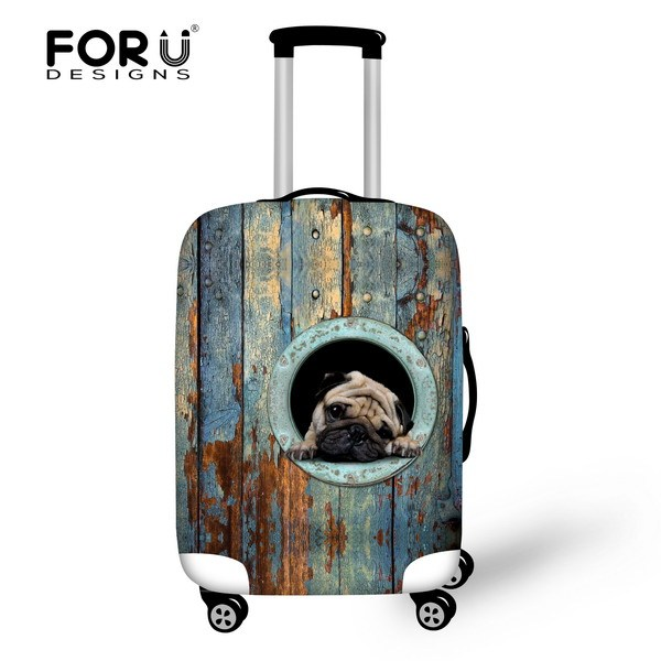 Bulldog Style Thick Waterproof Protable Travel Trolley Accessories Elastic Luggage Covers 18-30 Inch Travel Suitcase Dust Cover