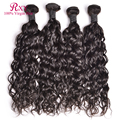 Indian Curly Virgin Hair Natural Wave 4 Bundle Deals 8A Grade Raw Indian Virgin Hair Wet And Wavy Curly Weave Human Hair Bundles