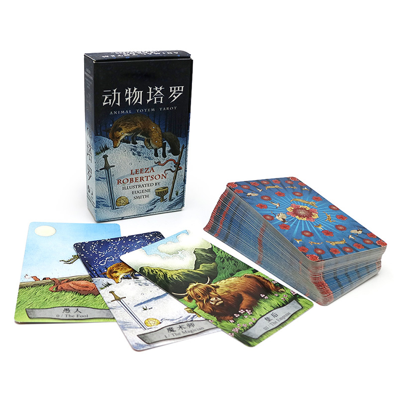 2018 new animals tarot cards English and Chinese version best quality board game playing cards for family cards game board game risk 2nd version full english version high quality very suitable for the party and family