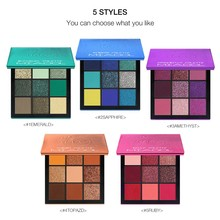 Mini Diamond Eyeshadow Palette 9 Colors Beauty Precious Stone Press Box Makeup Eye Shadow Obsessions