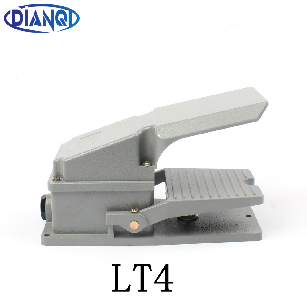 DIANQI LT4 Foot Switch Pedal Switch 5A AC 380V 15A AC 250V Material Aluminum LT4 xf 302b treadle foot pedal switch 15a 250vac 1c contact form waterproof