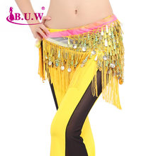 2017 Cotton Bellydance Real Women Belly Dance Skirt B.u.w Brand New Waist Chain Women's All-match Decoration Belt 9855(China)