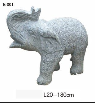 stone sculpture, garden furniture, elephant