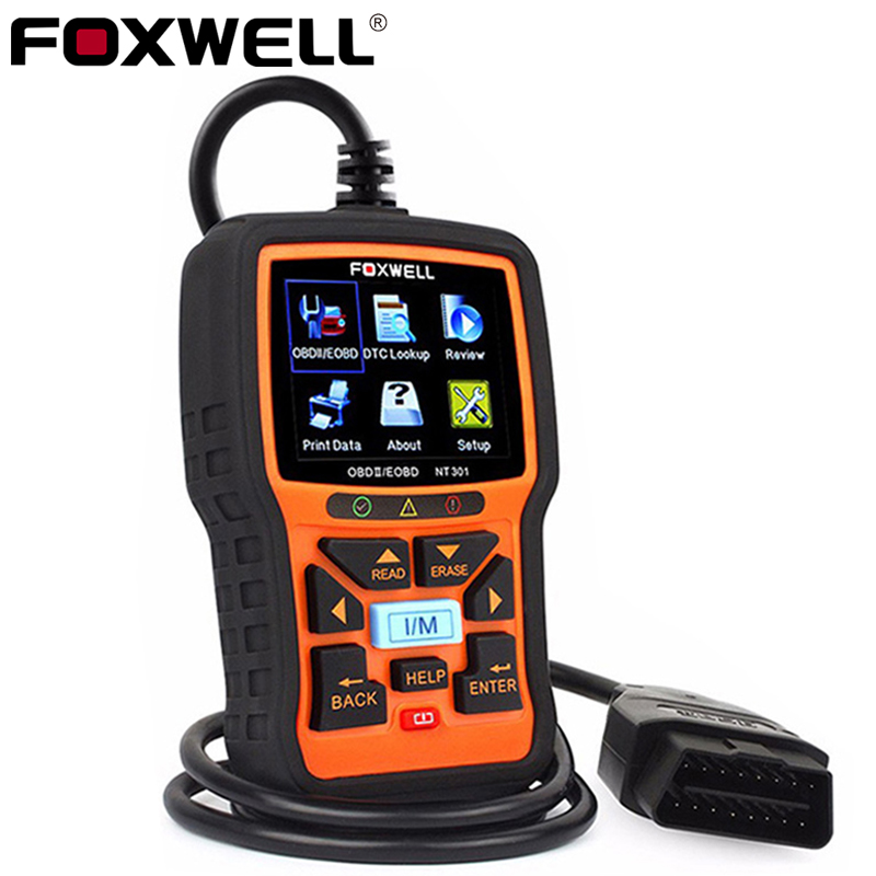 FOXWELL NT301 OBD2 Automotive Scanner Car Code Reader Engine Analyzer Universal obd2 EOBD OBDII Auto Diagnostic Tool Scanner 2016 new arrival vs 890 obd2 car scanner scantool obdii code reader tester diagnostic tools 3 inch lcd car detector