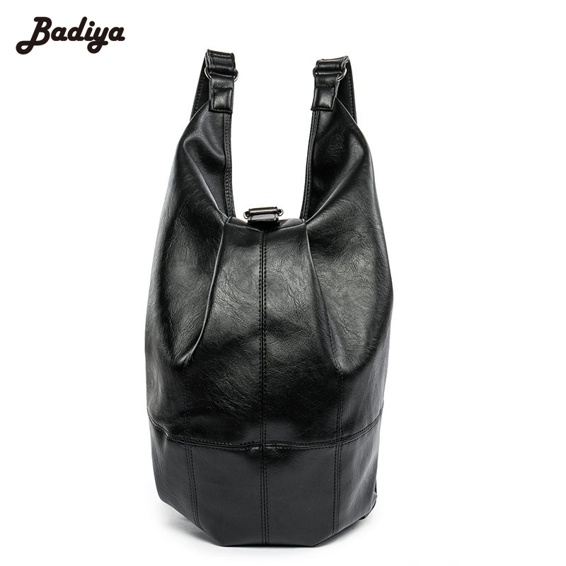 High Quality Backpacks Male Escolar PU Leather Black Backpack Brief Design Waterproof Men's Back Pack 15.6 Inch Laptop Mochila рюкзаки zipit рюкзак shell backpacks