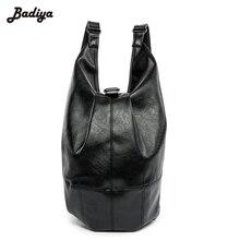High Quality Backpacks Male Escolar PU Leather Black Backpack Brief Design Waterproof Men's Back Pack 15.6 Inch Laptop Mochila