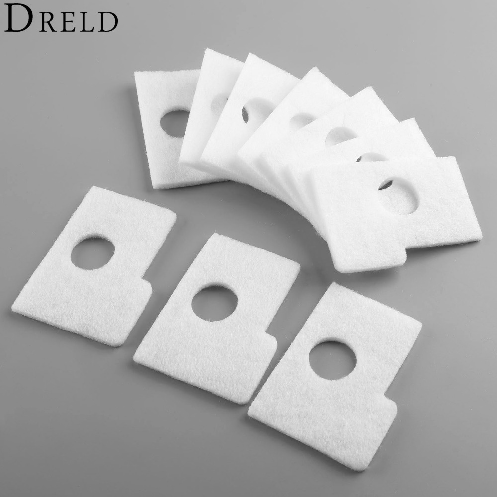 DRELD 10Pcs Air Filter Plate Kit For STIHL MS 180 170 MS180 MS170 018 017 Chainsaw Replacement Parts 1130 124 0800 38mm cylinder piston rings needle bearing kit for stihl ms180 ms 180 018 chainsaw