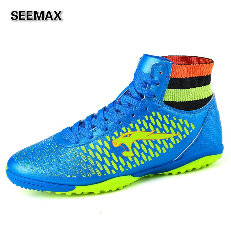 2016 Indoor Soccer Shoes Cleats High Top Men Women Boys ...