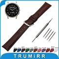 22mm Faixa De Relógio de Couro Genuíno Croco para o Vetor Luna/meridiano Cinta Pin Fivela Correia de Pulso Pulseira de Aço Inoxidável + ferramenta