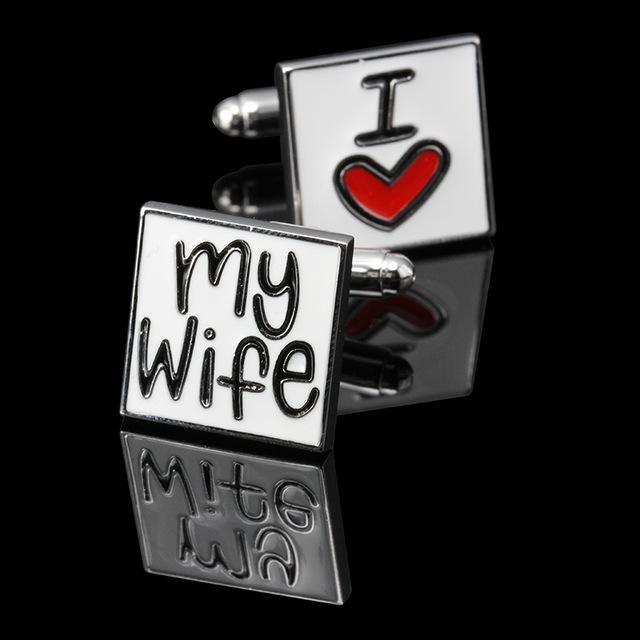 I Love My Wife Men S Cufflinks Valentine Giftmarried Wedding Groom