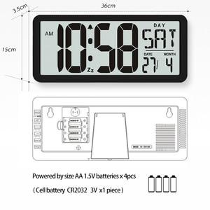 Image 5 - Temporizador de Cuenta regresiva súper grande, reloj de pared de cocina, pantalla LCD grande con temperatura, calendario, pantalla de día, reloj despertador, Mesa