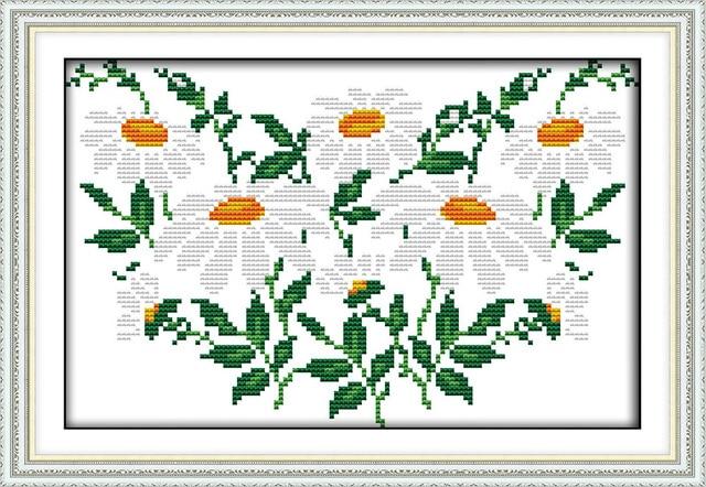 Margaritas Blancas Patron De Flores De Punto De Cruz 11ct 14ct