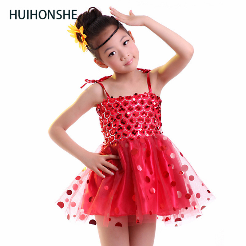 Children Latin Ballroom Dance Dress Girl Dance Costume Girls' collective performance clothes Girls dance clothes wholesale