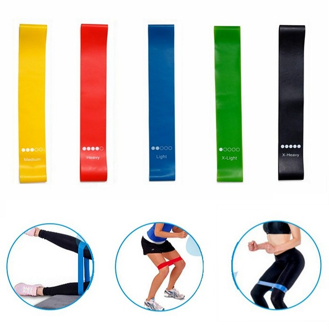 Yoga Resistance Rubber Bands Indoor Outdoor Fitness Equipment 0.35mm-1.1mm Pilates Sport Training Workout Elastic Bands