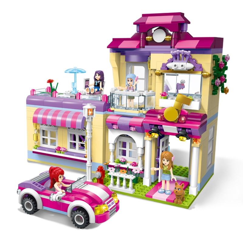 Modèles jouet de construction éclairer 2007 Cherry filles série Star Center de formation 729 pièces filles blocs de construction compatibles avec lego