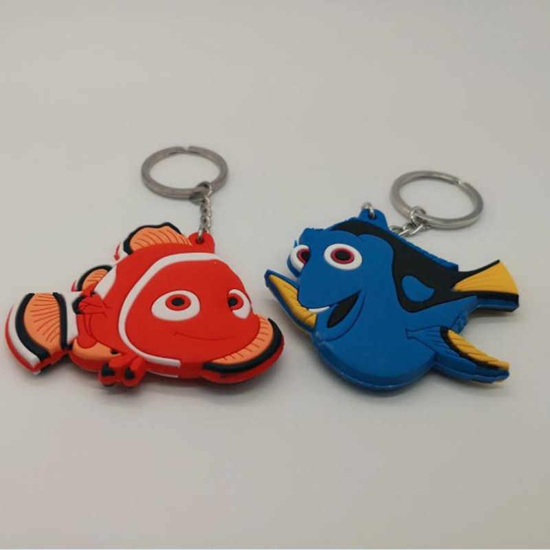 Anime Dory Finding Nemo Marlin peixes corrente chave bonito personalidade cos PVC brinquedos dos desenhos animados azul lembrança moda llaveros chaveiro 2018