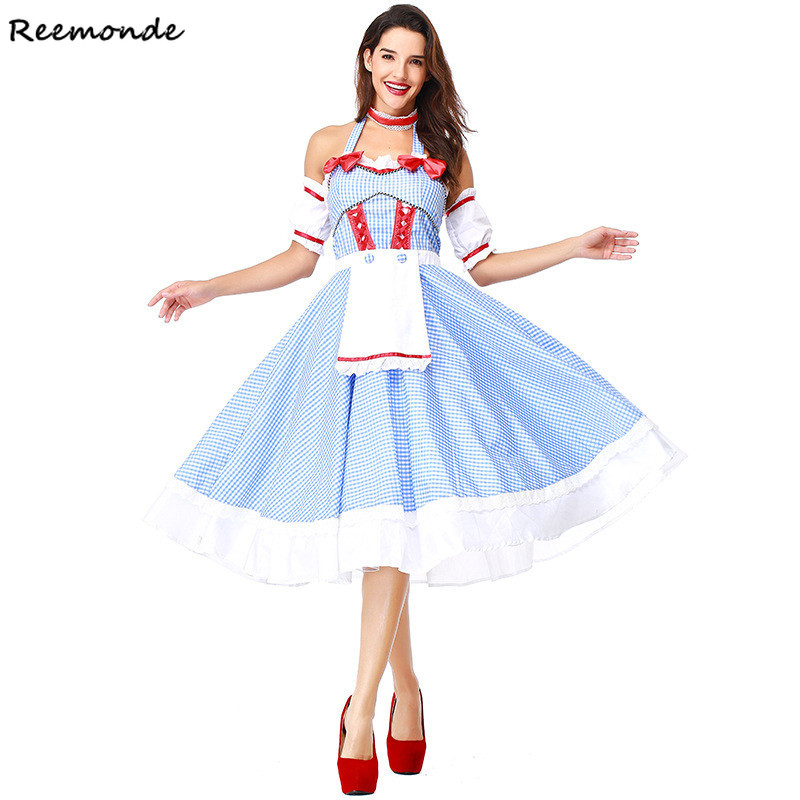 Anime The Wizard OZ Princess Cosplay Costumes Dorothy Kansas Dress Skirt For Women Girls Maid Dance Party Halloween Clothes