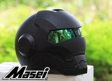 NEW Black MASEI IRONMAN Iron Man casco del motociclo del casco retro mezza casco aperto del fronte del casco 610 ABS casco motocross