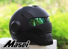 Новый черный MASEI Железный человек шлем мотоциклетный шлем ретро Половина шлем открытый шлем 610 ABS шлем для мотокросса