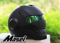 2016 Top Hot Black MASEI IRONMAN Iron Man Helmet Motorcycle Helmet Half Helmet Open Face Helmet